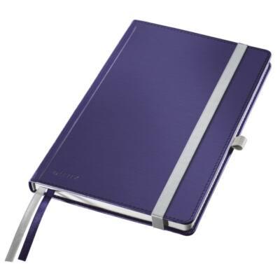 Jegyzetfüzet LEITZ Style A/5 80 lapos kockás titánkék
