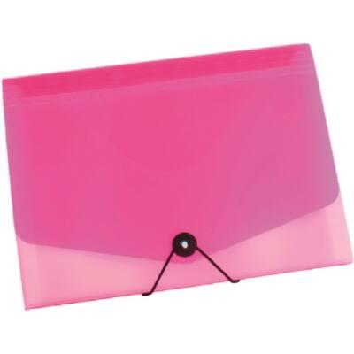 Harmonika mappa OPALINE 13 részes gumis pink