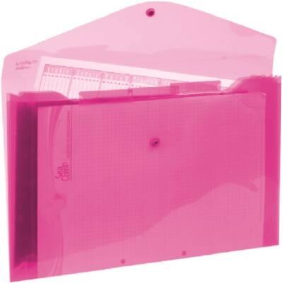 Harmonika mappa ELECTRA 3 részes pink