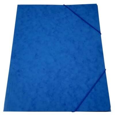 Gumis mappa A/4 prespán kék 345gr