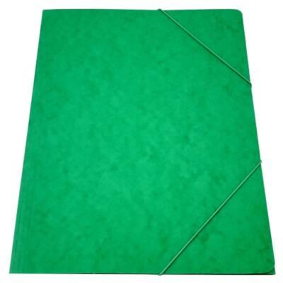Gumis mappa A/4 prespán zöld 345gr