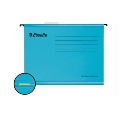 Függőmappa ESSELTE Classic A/4 gyorslefűző szerkezettel újrahasznosított karton kék 10 db/csomag