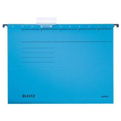 Függőmappa LEITZ Alpha Standard A/4 karton kék 25 db/doboz