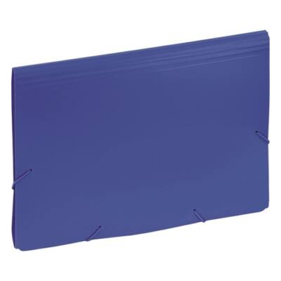 Harmónika mappa EAGLE 12 részes gumis kék