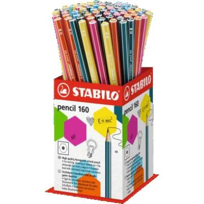 Grafitceruza display STABILO Pencil 160 HB hatszögletű 72 db-os