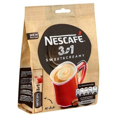 Kávé instant NESCAFE 3in1 Sweet&Creamy 10x17g